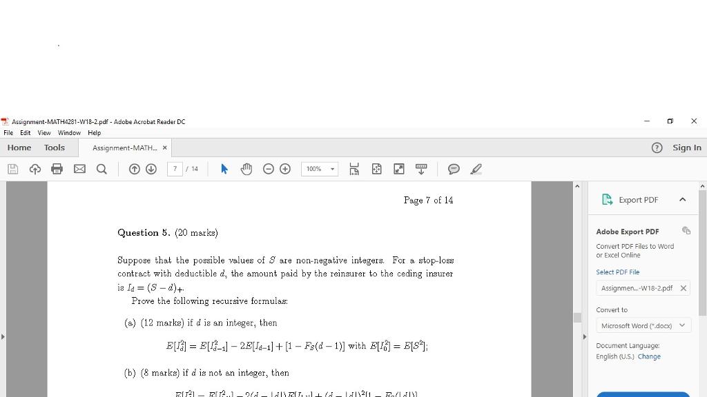 Mathematics pdf actuarial