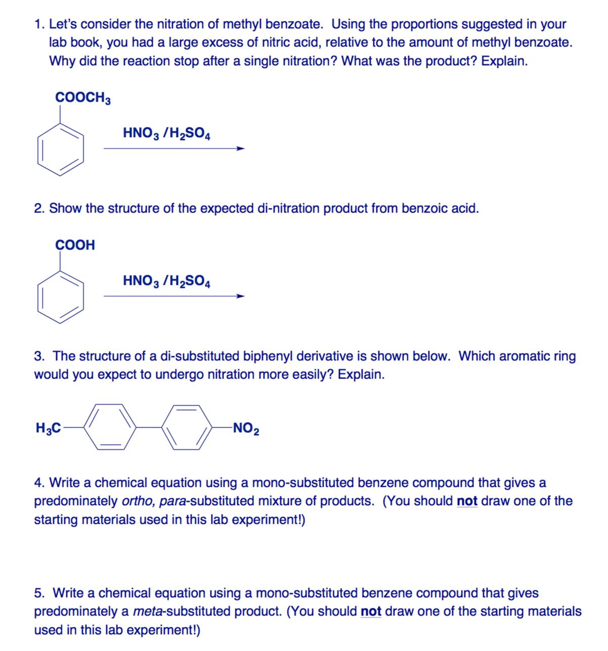Nitration of methyl i benzonate
