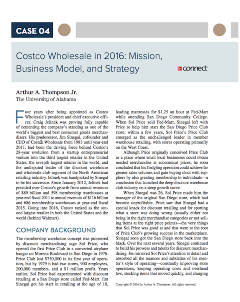 what are the chief elements of costco s strategy how good is the strategy Costco strategy objectives what are the chief elements of costco's strategy critically evaluate the strategy industry background finances conclusion.