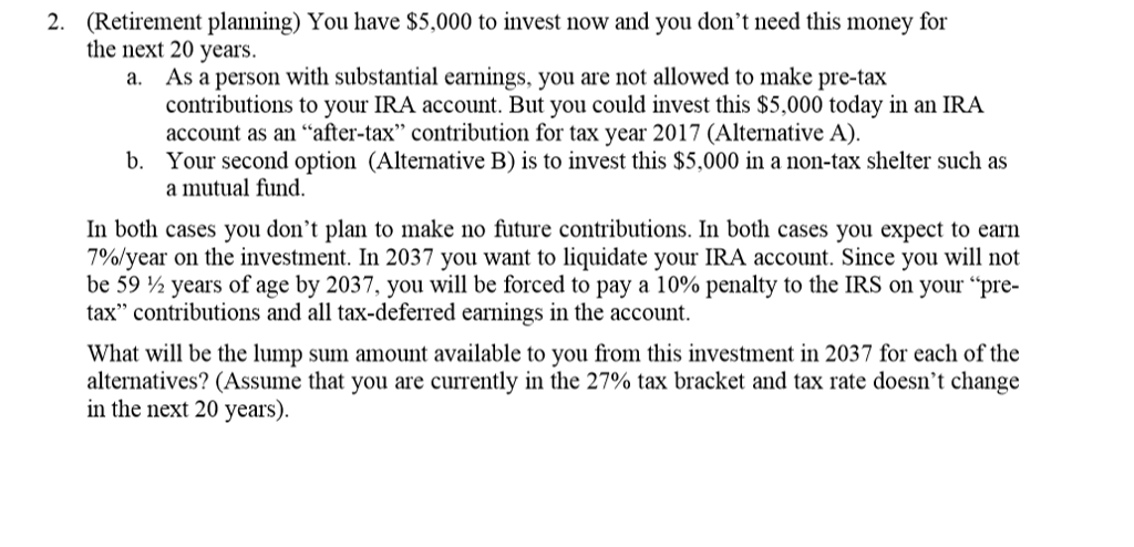 Liquidating ira questions retirement