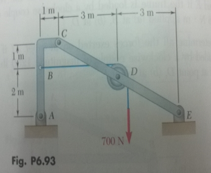 Solved Knowing That The Pulley Has A Radius Of 05 M Det