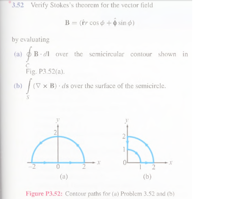 Verify Stokes's theorem for the vector field B =