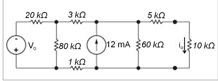 solved  consider the circuit shown below and assume vo is