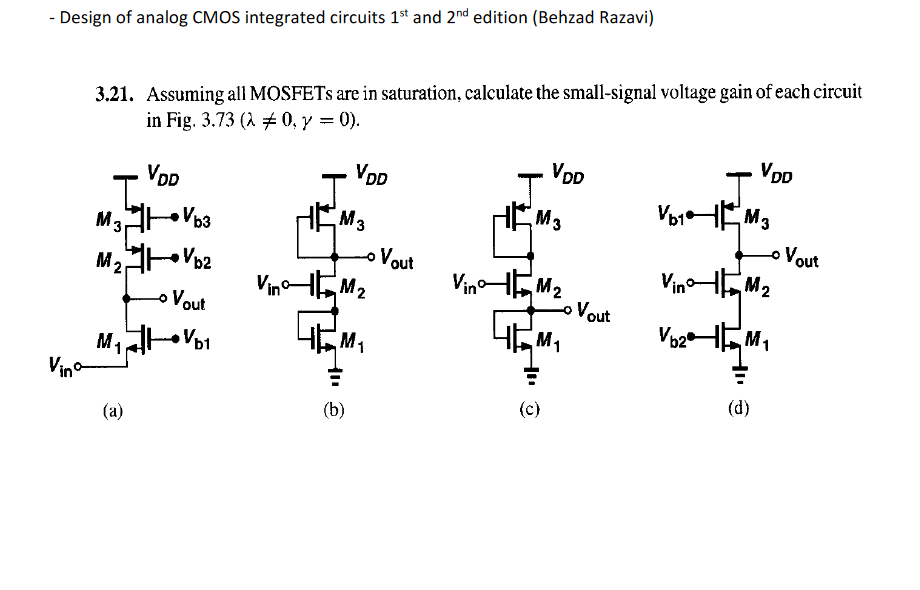 Design Of Analog Cmos Integrated Circuits Behzad Razavi Pdf