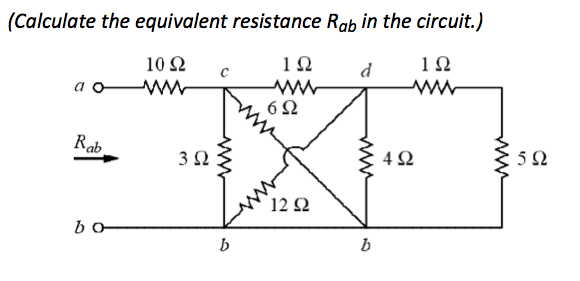 solved calculate the equivalent resistance rab in the ci rh chegg com calculating equivalent resistance of complex circuits calculate the equivalent resistance of the circuit