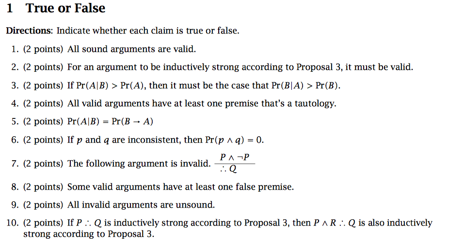 What Is a True or False Question?