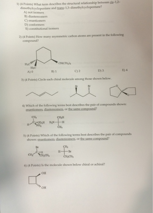 relationship between chiral molecule and enantiomers