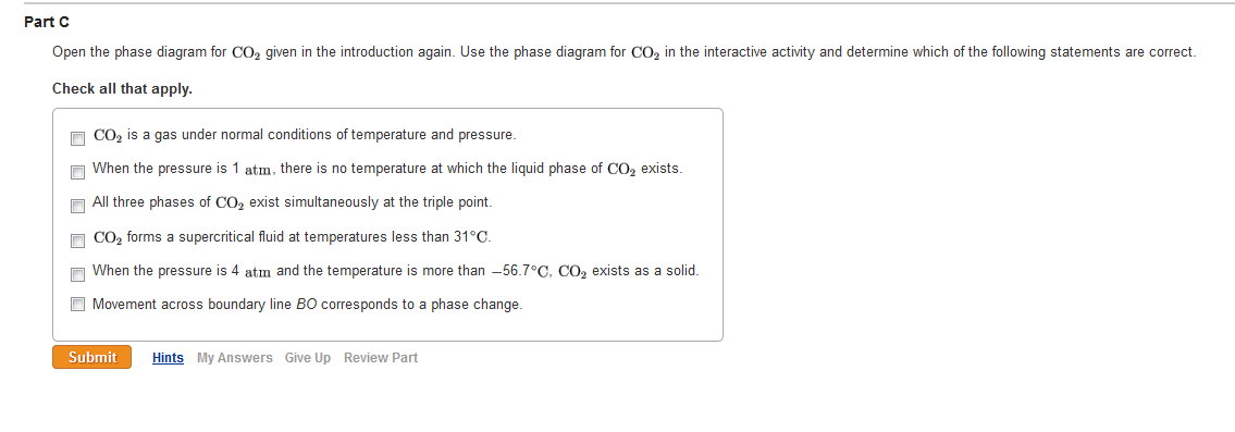 Solved  Open The Phase Diagram For Co2 Given In The Introd