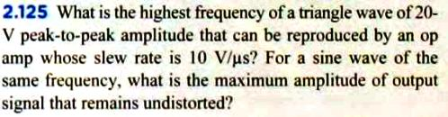 What is the highest frequency of a triangle wave o