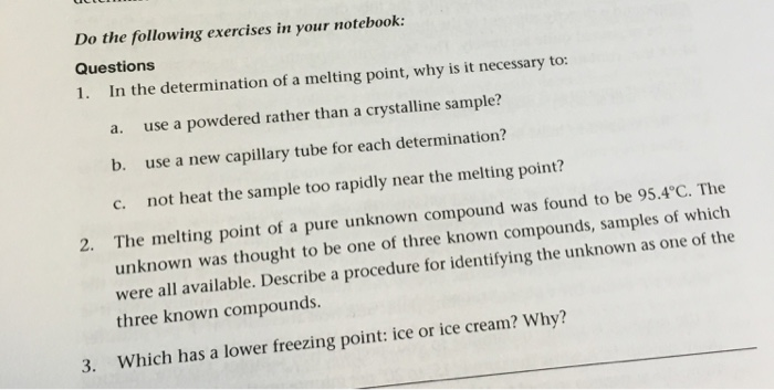how to take melting point