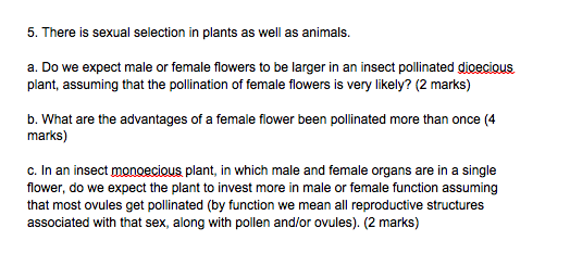Sexual Selection In Plants
