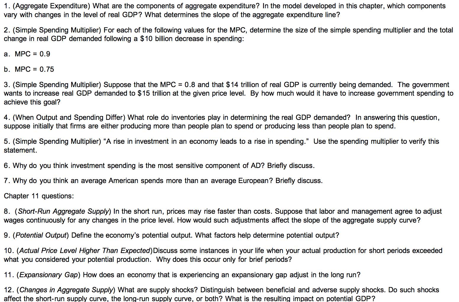 define aggregate expenditure
