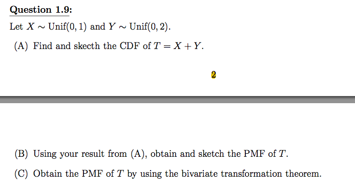 pmf and cdf relationship test