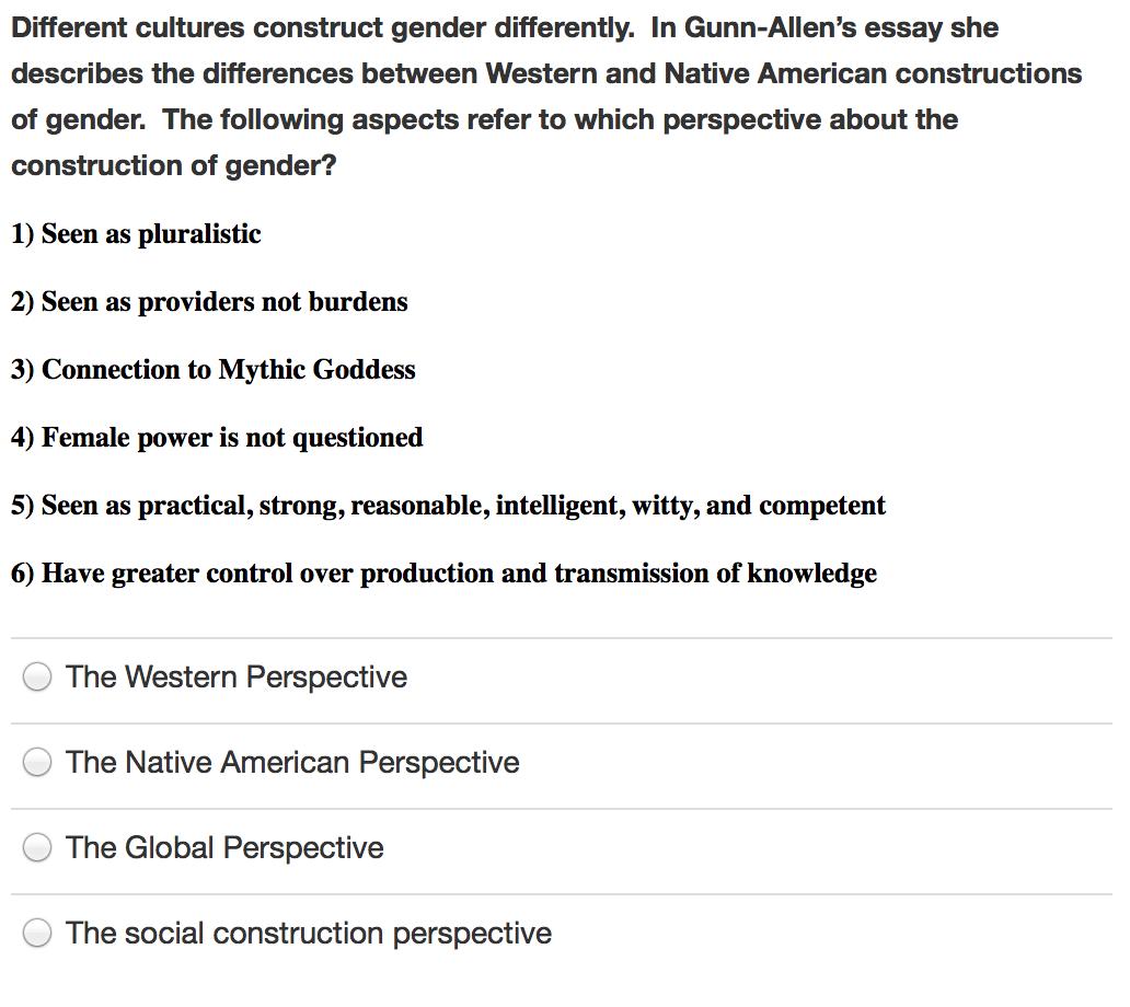 the social construction of gender summary