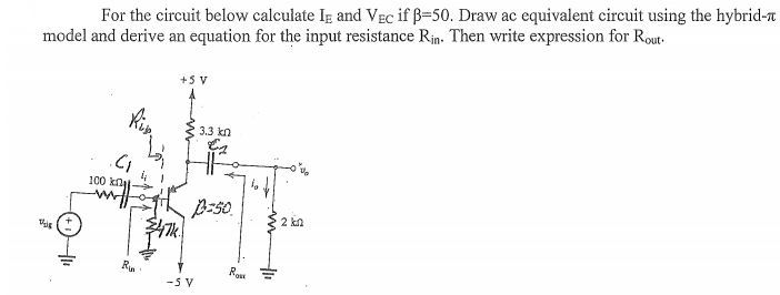 solved for the circuit below calculate ie and vec if betamedia b57 b5755c42 7414 40f1 a3da 34