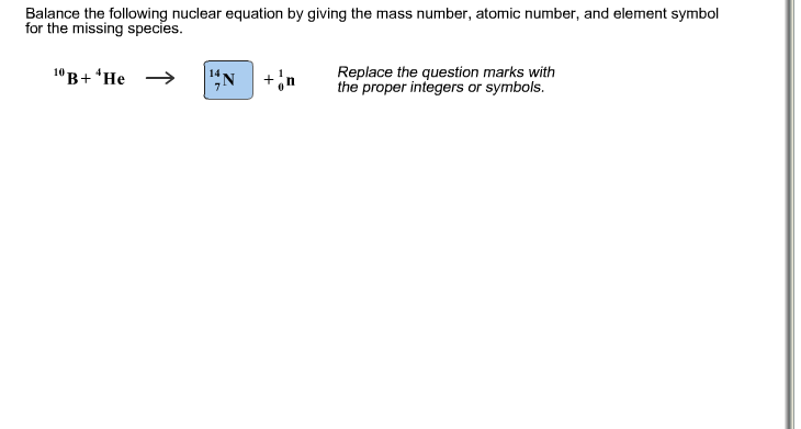 Solved Balance The Following Nuclear Equation By Giving T