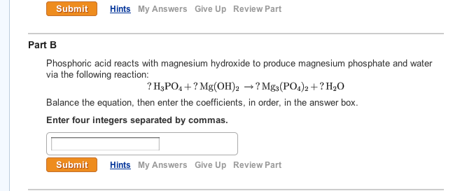 Solved Phosphoric Acid Reacts With Magnesium Hydroxide To