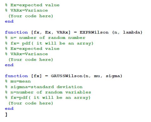 Matlab function file