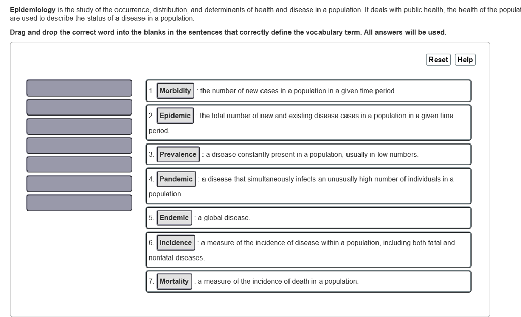examples of epidemiology diseases