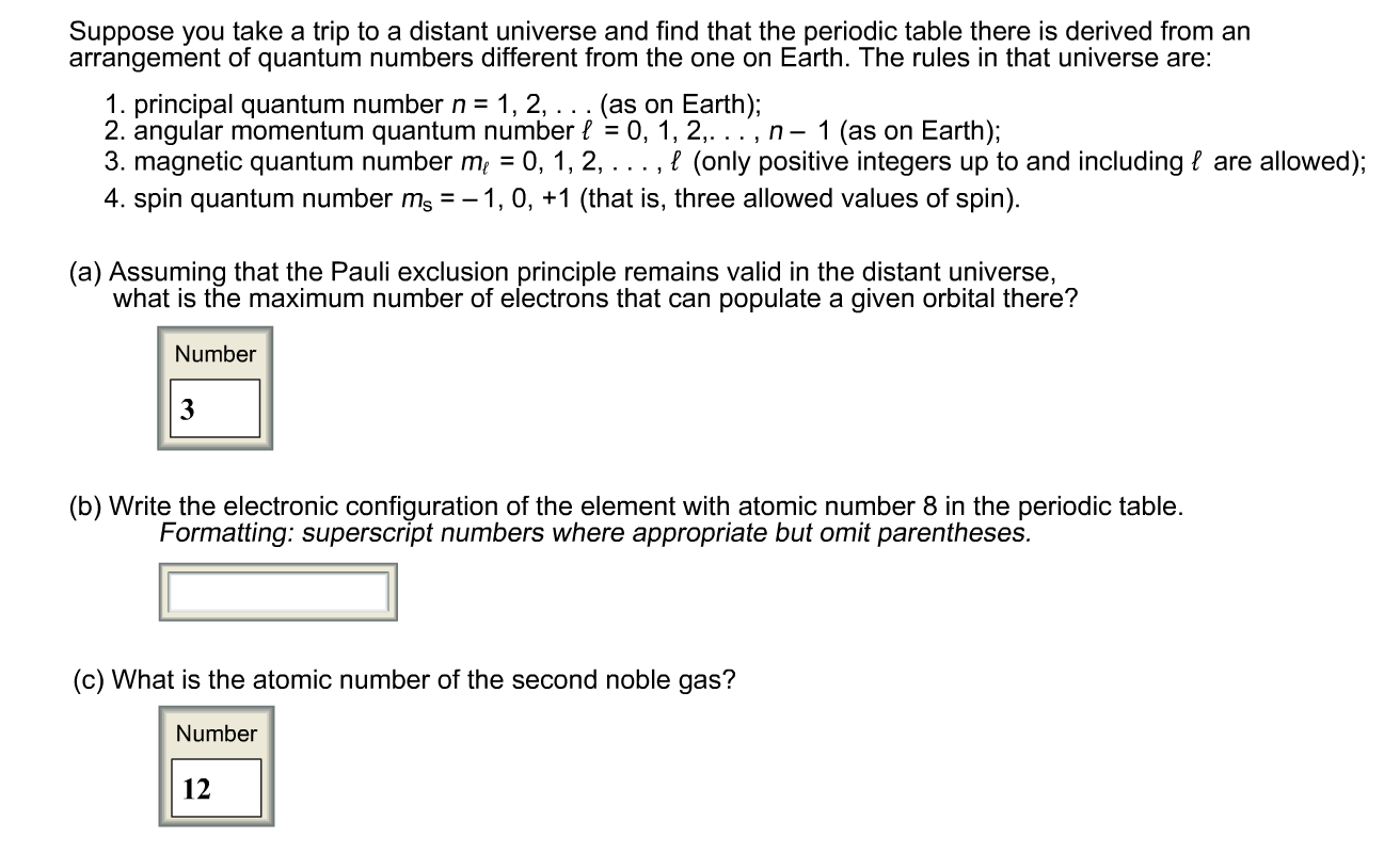 Question show transcribed image text suppose you take a for Periodic table 6 mark question