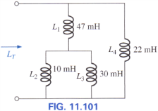 Find the total inductance for the network