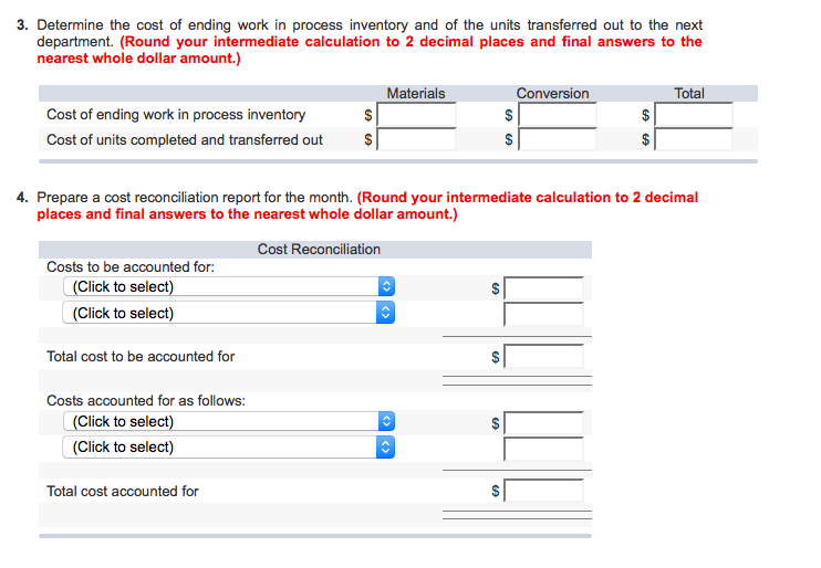 Calculate the equivalent units for materials for the month in the first processing department