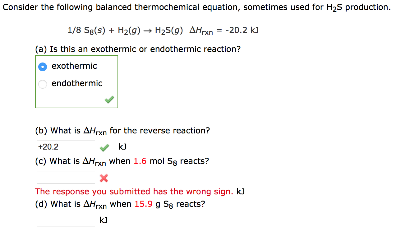 given the thermochemical equation