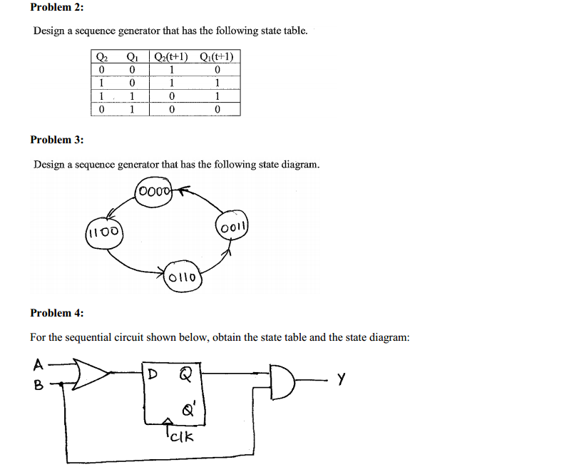 Solved design a sequence generator that has the following for Text table design