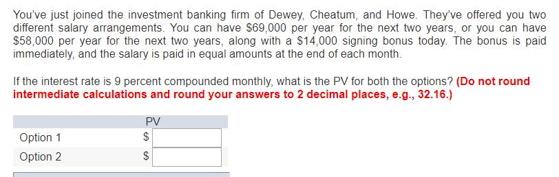 Investment banking signing bonus