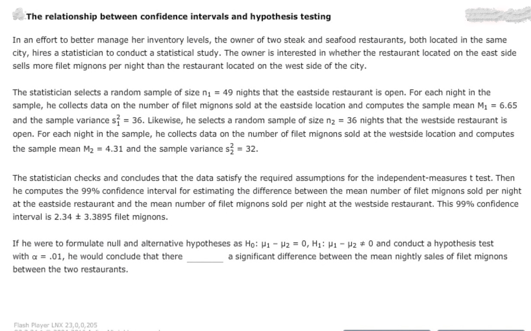 relationship between confidence interval test hypothesis