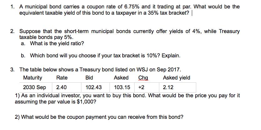 What is a municipal bond?