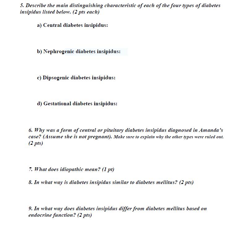 diabetes mellitus insipidus type 1 2