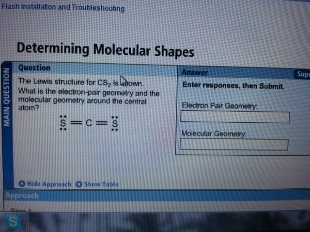Solved The Lewis Structure For Cs2 Is Shown What Is The