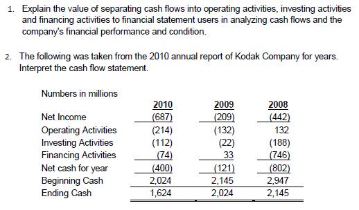 how to explain cash flow