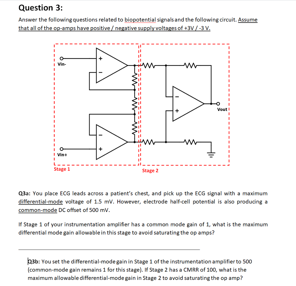 Instrumentation Amplifier The Opamp 3 Is A Difference Amplifier That