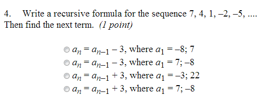 Explicit formulas for arithmetic sequences
