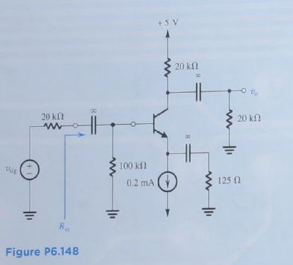 Figure P6.148 In the circuit of Fig. P6.148, vs
