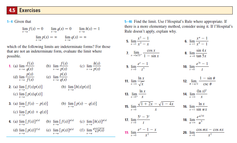 Solved: Given That Which Of The Following Limits Are Indet ...
