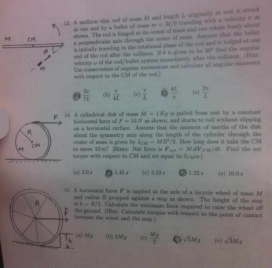 Solved: I Have The Physics' Review Sheet For The Final Exa