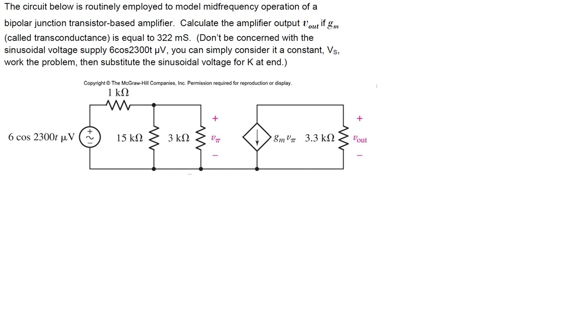 The circuit below is routinely employed to model i