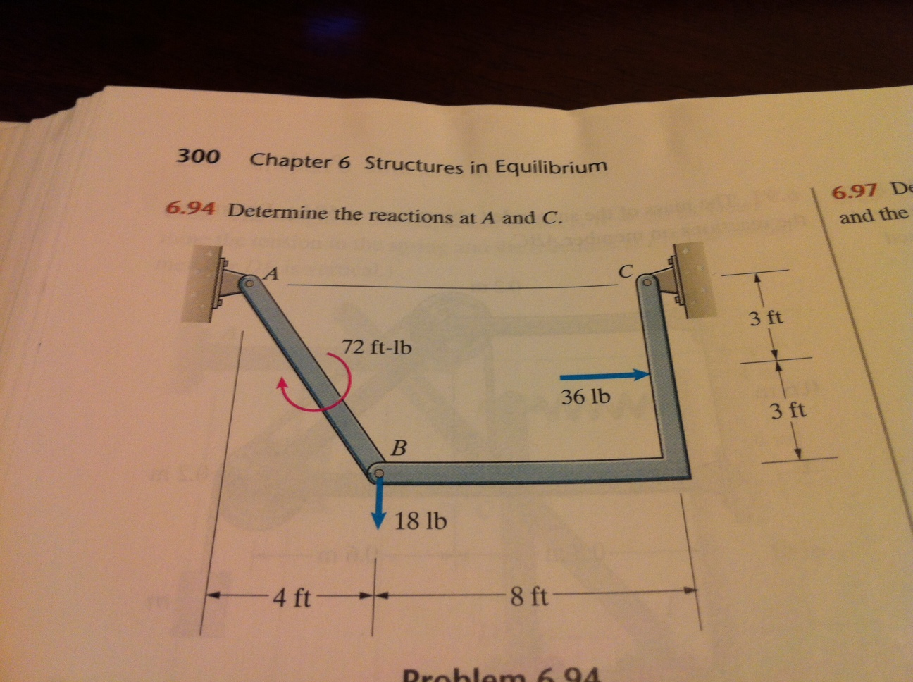Image for Determine the reactions at A and C. Engineering Mechanics: statics  5th ...
