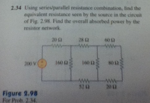 Using series / parallel resistance combination, fi