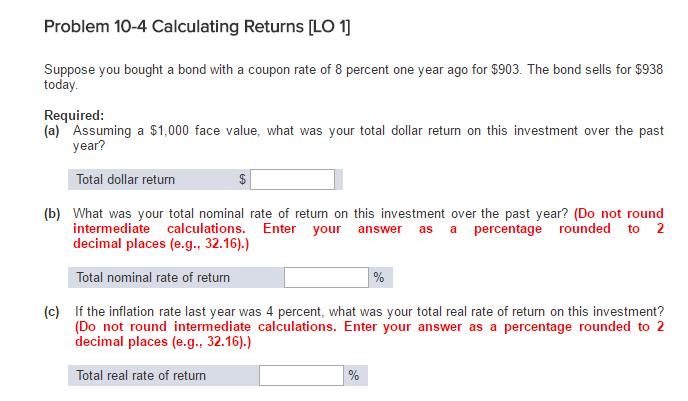 calculate return coupon bond