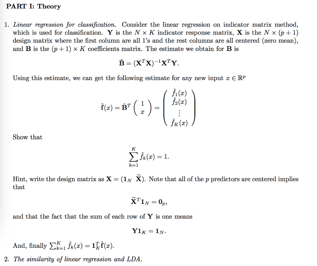 LINEAR REGRESSION THEORY PDF DOWNLOAD