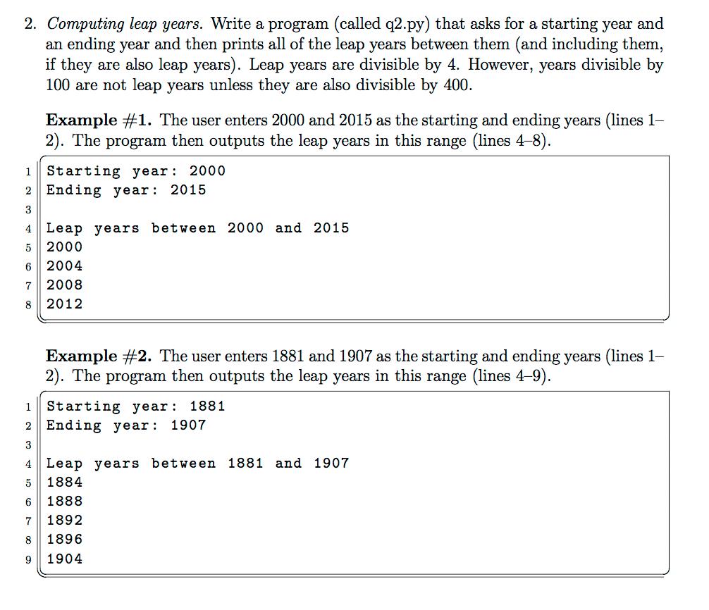 Leap Year Program In C