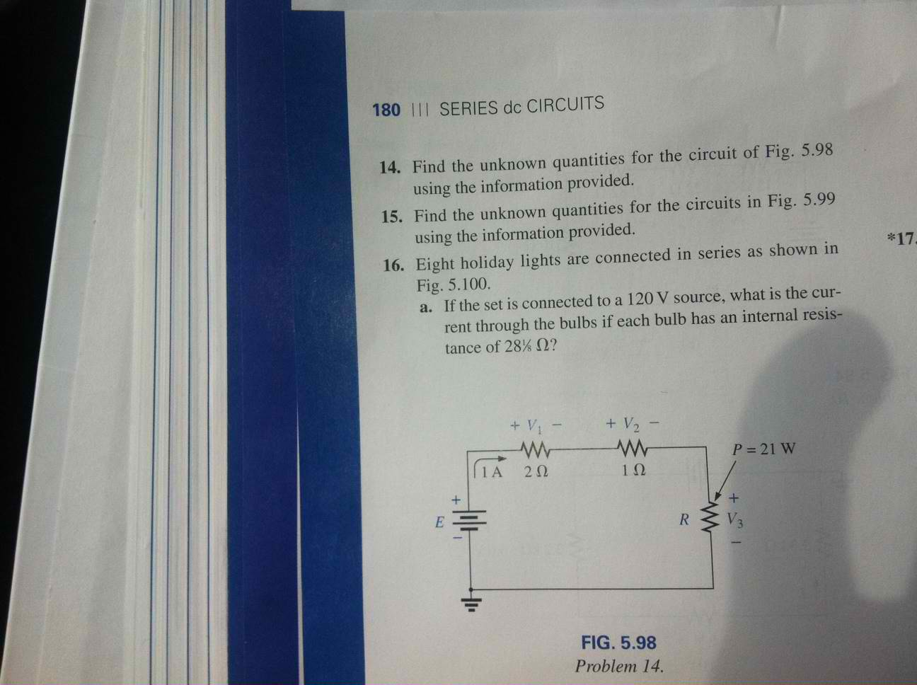 Solved Find The Unknown Quantities For Circuit Of Fig Light Bulb Is Connected In Shown Cheggcom