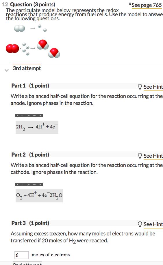 redox half reactions worksheet