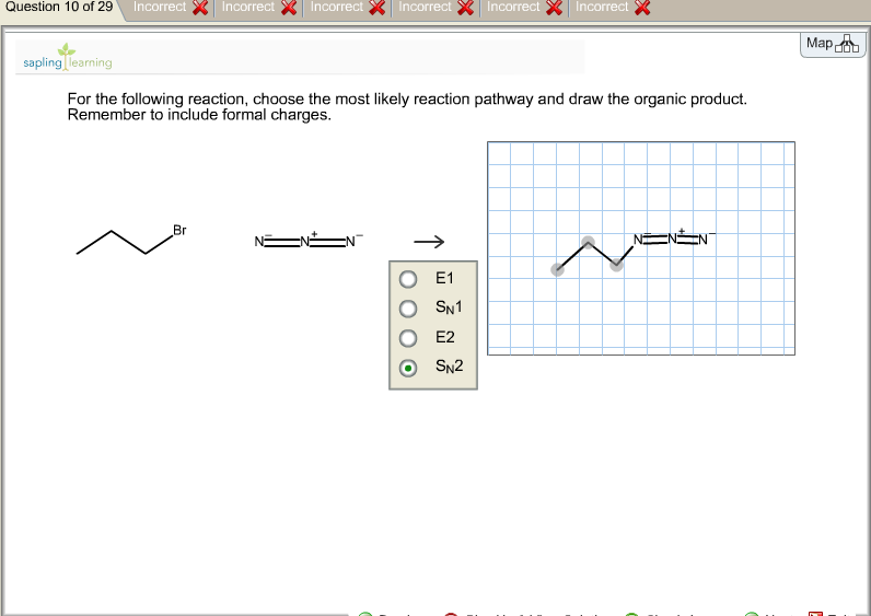 Write a mechanism for the following reaction choose the most likely reaction