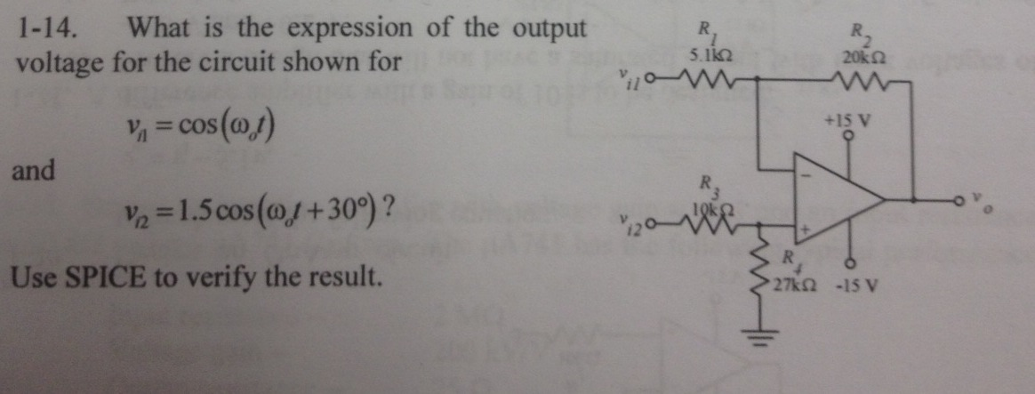What is the expression of the output voltage for t