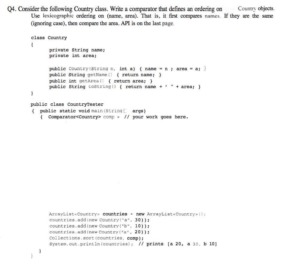 copy on write arraylist api